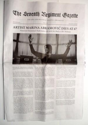 The Life and Death of Marina Abramovic - Programma di sala Park Avenue Armory, New York, 12 Dicembre 2013