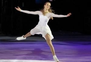 Foto: Caroline Kostner, medaglia di bronzo nel pattinaggio artistico, Olimpiadi invernali di Sochi 2014