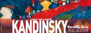 """Foto: locandina mostra """"L'artista come sciamano"""" dedicata a Wassily Kandinsky presso l'Arca di Vercelli fino al 6 luglio 2014"""