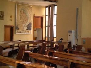 Foto: Il mosaico dedicato a Madre Teresa all'interno della Cattedrale cattolica a Tirana