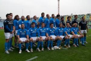 Foto: la Nazionale italiana di Rugby
