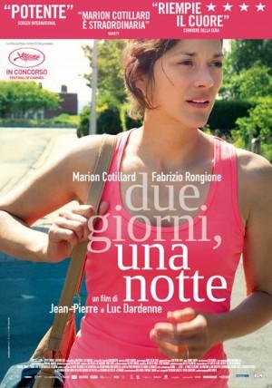 """Foto: locandina italiana film """"Due giorni, una notte"""" di Luc Dardenne"""