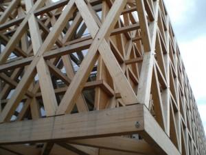 Il padiglione con la struttura in legno del Cile, Expo Milano 2015