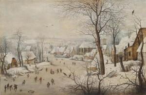 Foto: Pieter Brueghel il Giovane, Trappola per uccelli, Brueghel capolavori dell'arte fiamminga presso Palazzo Albergati di Bologna fino al 28 febbraio 2016