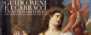 """Foto: locandina mostra (particolare) """"Guido Reni e i Carracci"""" presso Palazzo Fava di Nologna fino al 13 marzo 2016"""