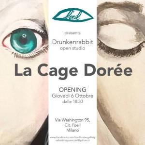 Foto: cover personale La Cage Dorée, presso L'Oeil di Milano dal 6 ottobre al 6 novembre 2016