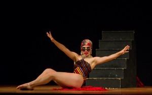 Foto di scena: Marta Ossoli in Cleopatràs di Giovanni Testori, andato in scena al Teatro Litta Sala La Cavallerizza dal 13 al 18 dicembre 2016