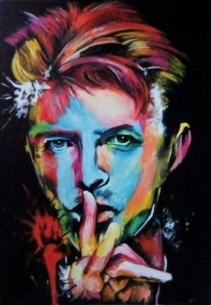 """Foto: David Bowie, opera di Carlo Montana, in """"L'uomo delle stelle"""" al Teatro Verdi di Milano il 20 e 21 gennaio 2017"""