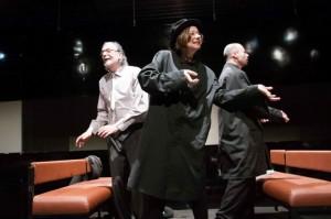 Foto di scena: Gli amori difficili, da sin. Gigio Alberti, Monica Bonomi, Nicola Ciammarughi, andato in scena al Teatro Out Off di Milano dal 14 marzo al 9 aprile e dal 18 al 30 aprile 2017