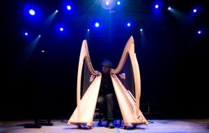 Foto: Vincenzo Zitello, arpa celtica - Teglio Teatro Festival Valtellina 2017, dal 27 luglio al 10 agosto 2017