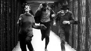 Foto: screenshot di Jules e Jim (1962) di François Truffaut. Da sin. Jeanne Moreau (Catherine), Henri Serre (Jim) e Oskar Werner (Jules)