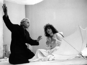 """Foto: Giorgio Strehler durante le prove de """"Il giardino dei ciliegi"""" di Cechov, 1973"""