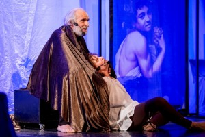 Foto di scena: Caravaggio, Giorgio Putzolu e Rosa Maria Messina, al Nuovo Teatro Ariberto di Milano domenica 21 gennaio 2018