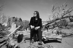 Foto: Il musicista Nero Kane - nome d'arte di Marco Mezzadri - , nel suo viaggio attraverso California e Arizona © Samantha Stella